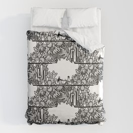 Chai and Cacti IV Duvet Cover