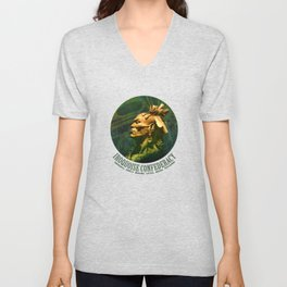 First Peoples Power - woodland indian Unisex V-Neck