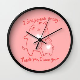 Thank you and I Love You Wall Clock