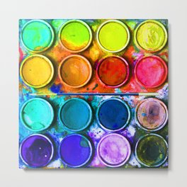 Watercolor Art Palette Metal Print