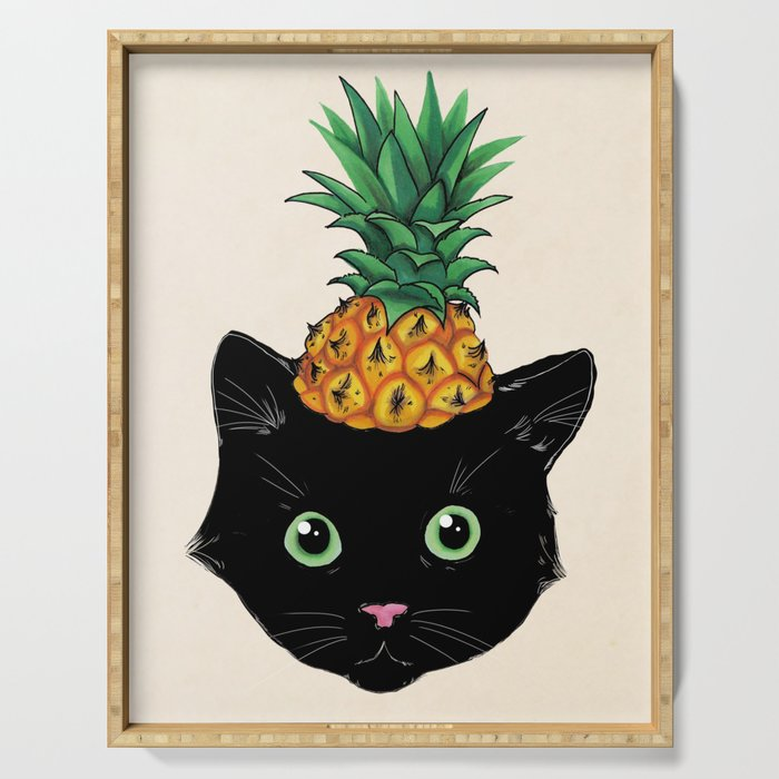 Pineapple Kitty Serving Tray