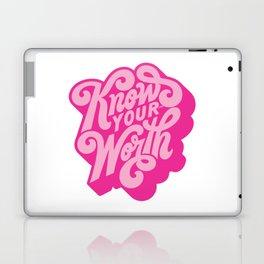 know your worth Laptop & iPad Skin