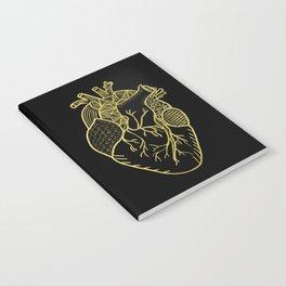Designer Heart Gold Notebook
