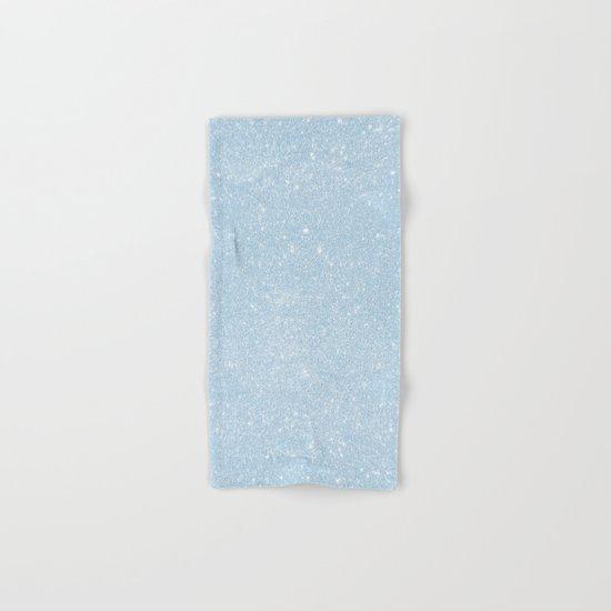 Pastel Blue Glitter Hand & Bath Towel