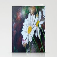 pushing daisies Stationery Cards featuring Daisies  by ANoelleJay