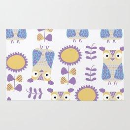 Owls pattern s3 Rug
