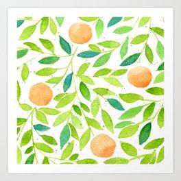 Naranjas de Valencia Art Print