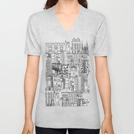 New York yellow Unisex V-Neck