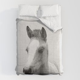 Baby Horse - Black & White Comforters