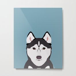 Shiloh - Husky Siberian Husky dog art phone case perfect gift for dog people Metal Print