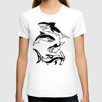 sharks T-shirts featuring Sharks by ChrisShirts