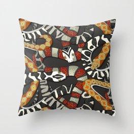 snakes jet Throw Pillow