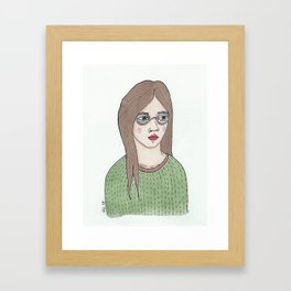 Girl with Glasses Framed Art Print
