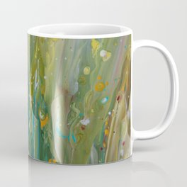 Fluid Nature - Windswept Cornfield - Abstract Acrylic Art Coffee Mug