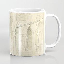 "Eugène Delacroix ""A courtyard in Marocco"" Coffee Mug"