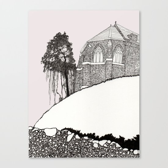 St. Vigeans (black and white) Canvas Print