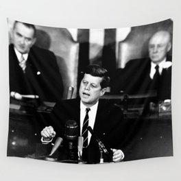 John F Kennedy JFK Speech Wall Tapestry