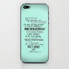 2 Corinthians 12:9 iPhone & iPod Skin