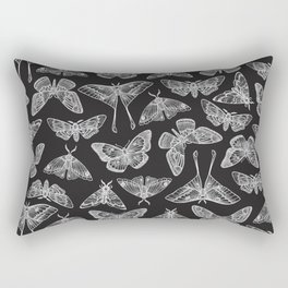 Lepidoptera Black & White Rectangular Pillow