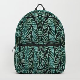 Rococo Sage & Dark Green Art Deco  Backpack