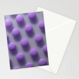 Violet Pills Pattern Stationery Cards