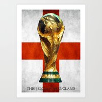 world cup Art Prints featuring World Cup by Rothko