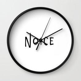 Noice. Smort. Wall Clock