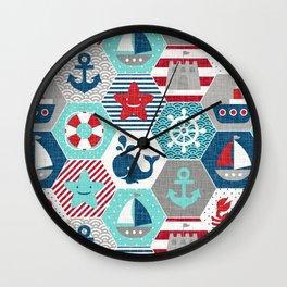 Nautical Baby Wall Clock