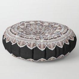 Copper Geo-Circle Black Background  Floor Pillow