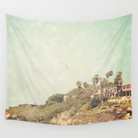 west coast Wall Tapestries featuring West Coast 1 by Sylvia C