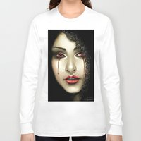 black widow Long Sleeve T-shirts featuring Black Widow by PiccolaRia