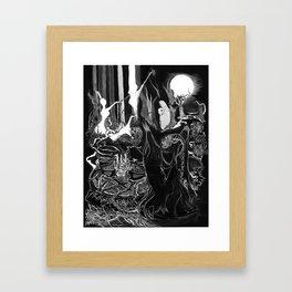 Demon Ritual Framed Art Print