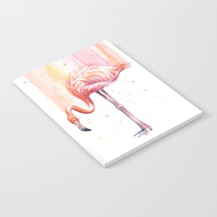 Flamingo Watercolor | Pink Rain Notebook