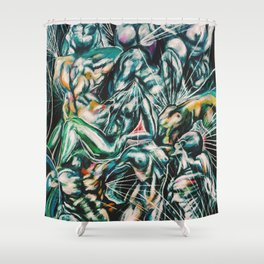 Abstraction of Figures Shower Curtain