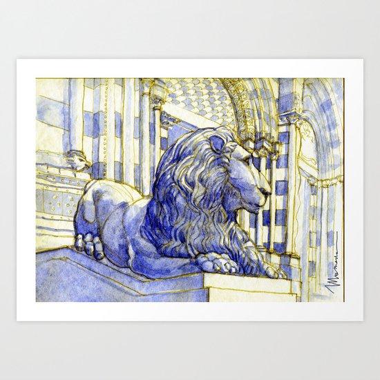 Il leone della cattedrale Art Print