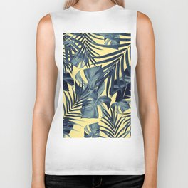 Tropical Jungle Leaves Pattern #7 #tropical #decor #art #society6 Biker Tank