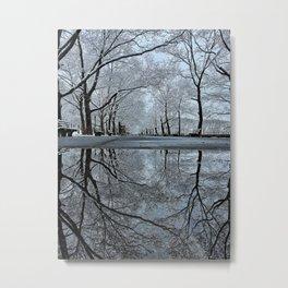 Riverside in Winter Metal Print
