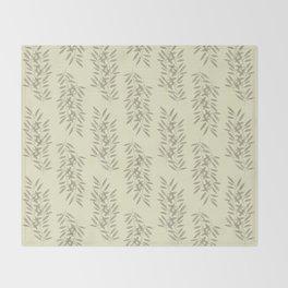Linen Leaves Throw Blanket