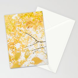 Yellow Canopy - Autumn Leaves Abstract Stationery Cards