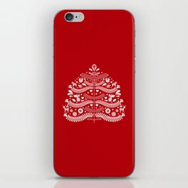 Scandinavian Folk Art Christmas Tree iPhone Skin