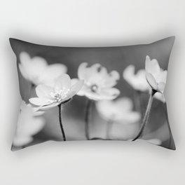 Anemone hepatica II - BW Rectangular Pillow