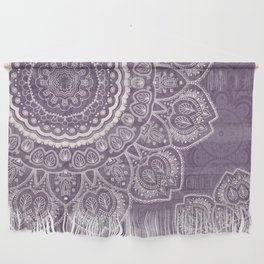 Mandala Tulips in Lavender ad Cream Wall Hanging