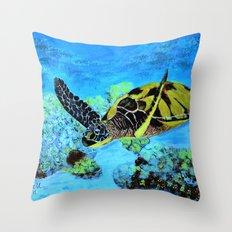 Quiet Swimm Throw Pillow