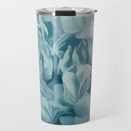 Soft Baby Blue Petal Ruffles Abstract Travel Mug