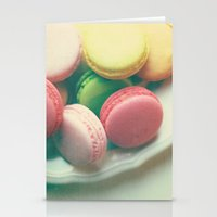 macarons Stationery Cards featuring Macarons  by Marianne LoMonaco