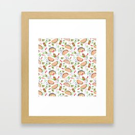 """Tacos are """"Hot Stuff"""" and we love them! Framed Art Print"""