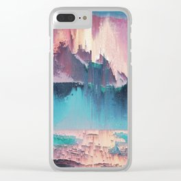 Glitched Landscapes Collection #3 Clear iPhone Case
