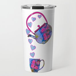Floral Tea Set Travel Mug