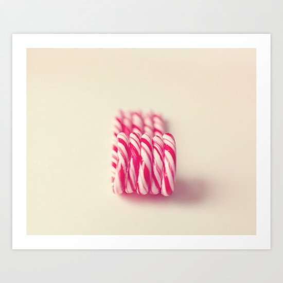 Christmas Candy Canes  Art Print