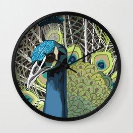 Hank the Peacock Wall Clock